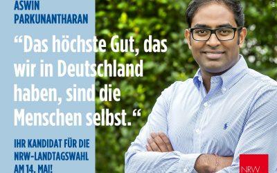 SPD-Kandiat für den Südkreis – Aswin Parkunantharan